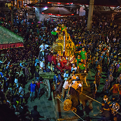 The current Royal Kumari Matina Shakya, 9, is taken out as part of the annual Seto Machindranath Chariot Festival. These living goddesses are young, pre-pubescent girls who are considered to be incarnations of the Hindu goddess of power, Kali.