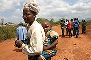 Refugees Banyamulenge from Cibitoke camp being relocated to Mwaro in the center of Burundi. Photo taken by Martine Perret on 19 October 2004. ONUB/ Burundi