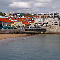 Europe, Portugal, Cascais. Praia dos Pescadores, a beach on the town of Cascais on the Estoril coast of greater Lisbon.