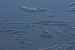 Strange ice formations on a pond near Lake Nokomis