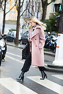 Pink Coat and Black Boots, Outside Chloe FW2016