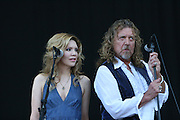 Robert Plant and Alison Krauss perform on the forth day of the 2008 Bonnaroo Music & Arts Festival on June 15, 2008 in Manchester, Tennessee. The four-day music festival features a variety of musical acts, arts and comedians..Photo by Bryan Rinnert