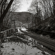 Rail Line approaching the Hoosac Tunnel