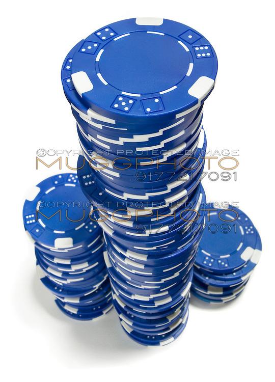 3 stacks of poker chips