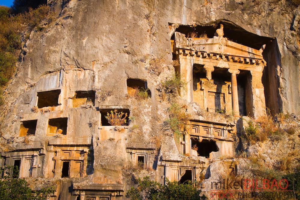 Tomb of Amyntas. Fethiye.  Mugla province, Aegean coast, Turkey.