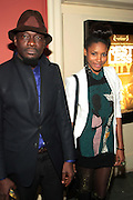 April 27, 2012- New York, NY : (L-R) Director Andrew Dosunmu and Actress/Model Sky Grey attend the New York Premiere of ' RESTLESS CITY ' presented by the African American Film Festival Releasing Movement (AFFRM) held at AMC 25 at 42nd Street on April 27, 20102 in New York City. An Official Sundance Film selection, and Directed by Andrew Dosunmu, RESTLESS CITY tells the story of a young man surviving on the fringes of New York City, where music is his passion, life is a hustle, and falling in love is his greatest risk. (Photo by Terrence Jennings).