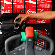 LAKELAND, FLORIDA - FEBRUARY 9:.Mike Jacks, Senior Manager of Logistics Systems, Coca Cola Refreshments, poses at a distribution warehouse on February 9, 2011 in Lakeland, Florida.  (Photo by Cy Cyr/Getty Images for Modern Materials HandlingLAKELAND, FLORIDA - FEBRUARY 9:.Mike Jacks, Senior Manager of Logistics Systems, Coca Cola Refreshments, poses at a distribution warehouse on February 9, 2011 in Lakeland, Florida.  (Photo by Cy Cyr/Getty Images for Modern Materials HandlingLAKELAND, FLORIDA - FEBRUARY 9:.Phones are placed in a pouch on the pallet jacks on February 9, 2011 in Lakeland, Florida.  (Photo by Cy Cyr/Getty Images for Modern Materials Handling