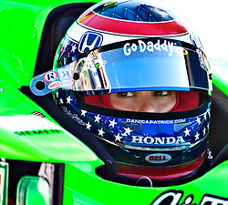 LONG BEACH, CA - APR 15: IndyCar Series driver Danica Patrick waits for INDY Car practice turn in her pit. Photo by Eduardo E. Silva