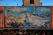 Mural in Batabano, Mayabeque, Cuba.