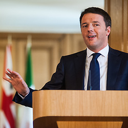Joint press conference of Prime Minister Matteo Renzi and Prime Minister David Cameron at Downing Street.<br /> In the photo: Matteo Renzi