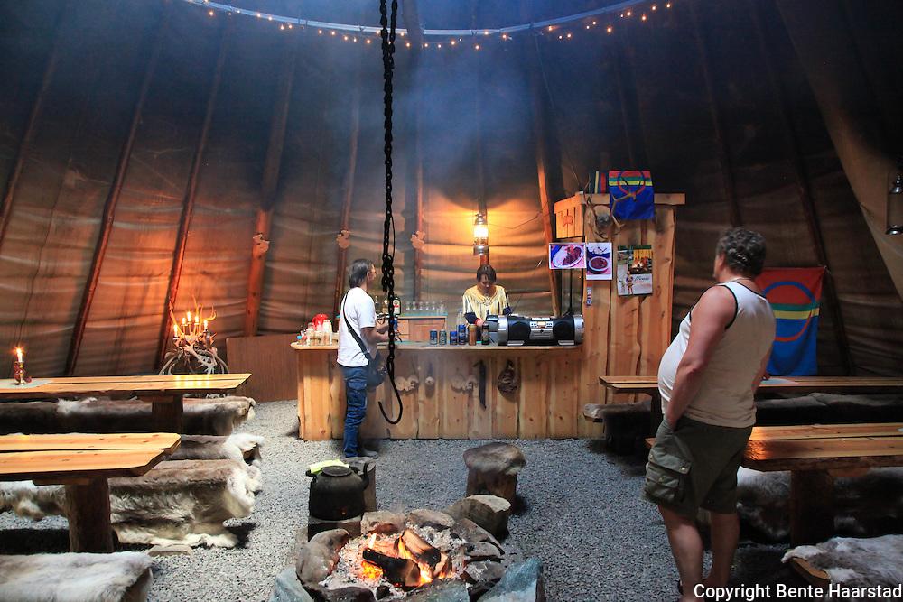 Boazo Sami Siida, a sami camp to visit, just outside the city of Alta.