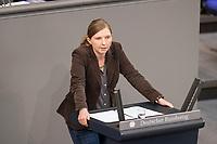 24 MAR 2017, BERLIN/GERMANY:<br /> Corinna Rueffer, MdB, B90/Gruene, waehrend der Bundestagesdebatte zum Teilhabebericht der Bundesregierung 2016, Plenum, Deutscher Bundestag<br /> IMAGE: 20170324-01-039<br /> KEYWORDS: Corinna R&uuml;ffer