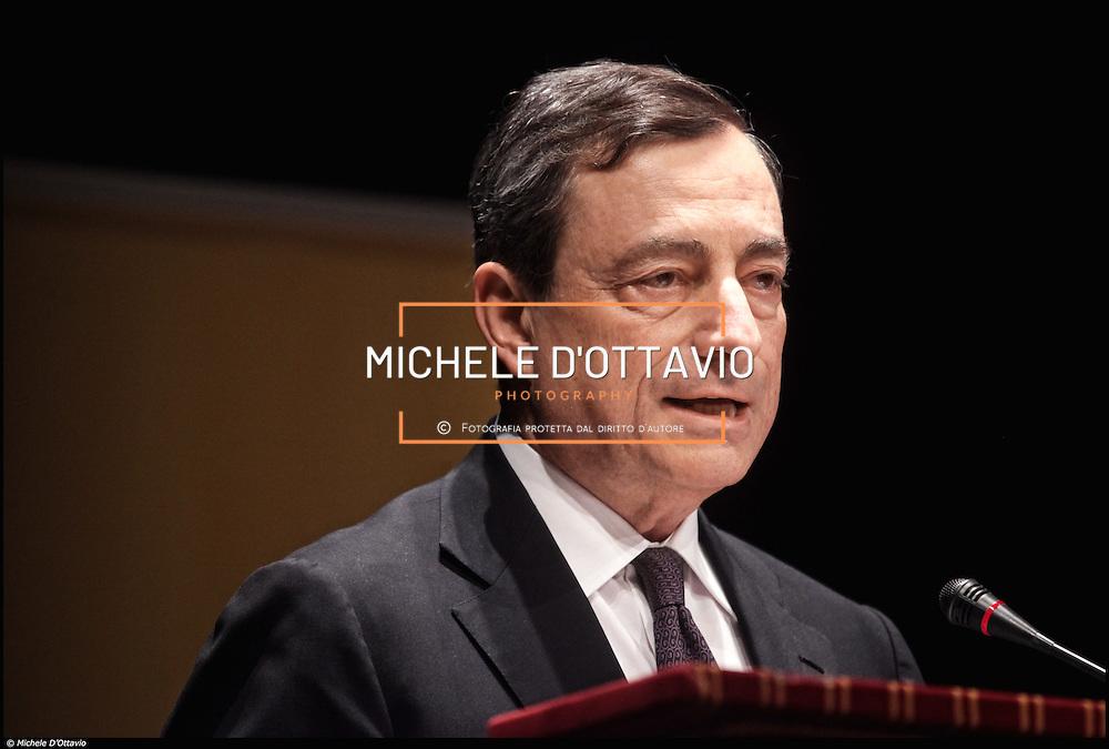 Governatore della Banca d'Italia fino a ottobre 2011. dal 1º novembre 2011 è  Presidente della Banca Centrale Europea.