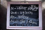 India, Uttar Maharashtra. Blackboard reporting information of Munisha. Alessio Romenzi