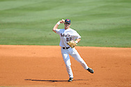 Ole Miss' Jake Overbey throws to first for an out vs. LSU at Regions Park in the SEC Tournament in Hoover, Ala. on Thursday, May 24, 2012.  LSU won 11-2.