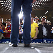 Former Gov. Mitt Romney (R-MA) holds a rally Thursday, December 29, 2011, in Ames, IA...Photo by Khue Bui