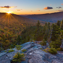 Sunset as seen from Dome Rock in New Hampshire's White Mountain National Forest.