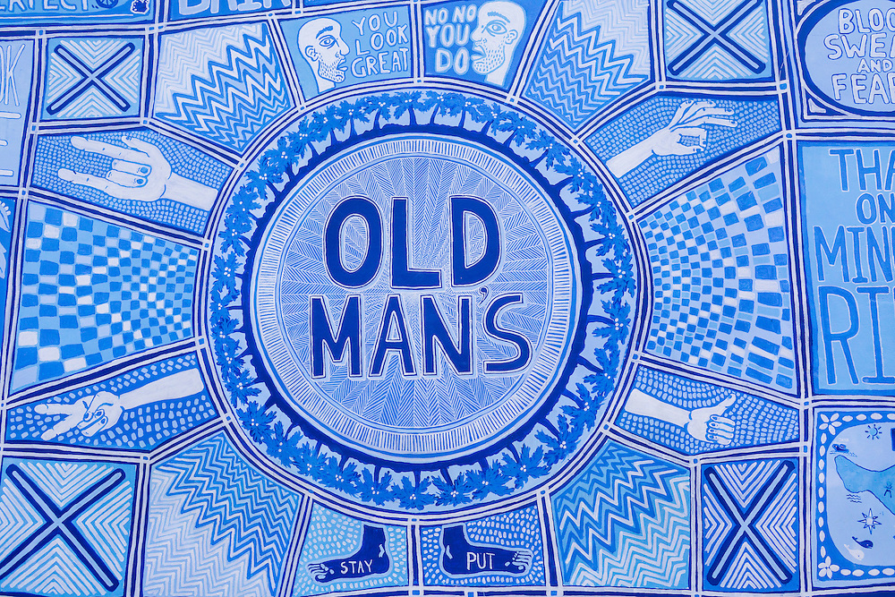 Mural at Old Man's.
