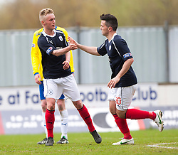 Falkirk's Craig Sibbald celebrates after scoring their first goal..Falkirk 4 v 1 Morton, 4/5/2013..© Michael Schofield..
