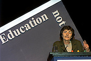 Estelle Morris MP speaking at the NUT Conference