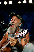 Seasick Steve aka Steve Wold, performs live on stage at The Astoria on January 24, 2008 in London, England. (Photo by Simone Joyner)