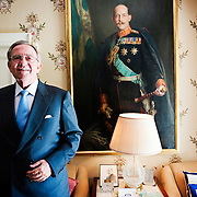 HM King Constantine of Greece at his home close to Hampstead Heath. London, England.<br /> &copy; Antony Jones