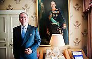 HM King Constantine of Greece at his home close to Hampstead Heath. London, England.<br /> &copy; Antony Jones