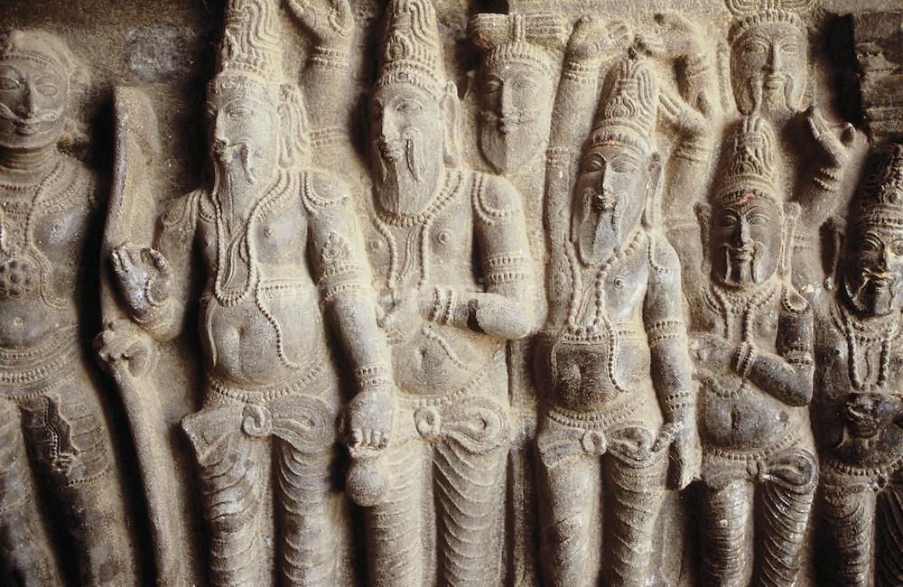 Sacred sculptures, Kumbakonam temple, India