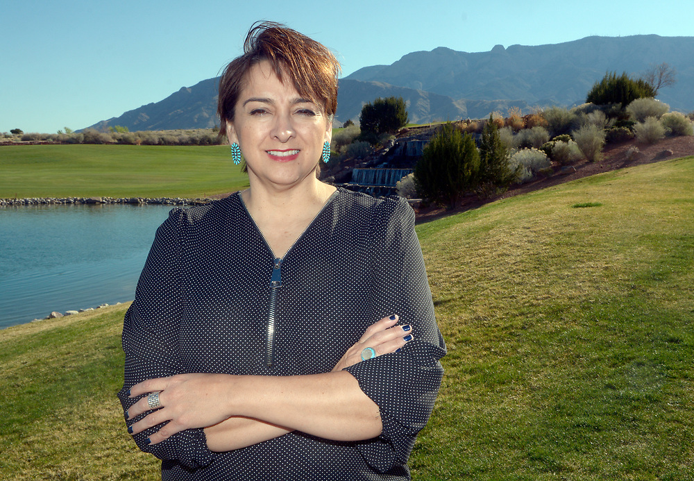 gbs032017c/BUSINESS -- Stephine Poston of Sandia Pueblo is being named Native Business Person of the Year. (Greg Sorber/Albuquerque Journal)