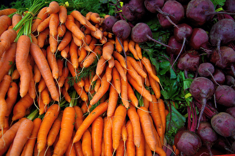 Beautiful organic carrots and beets from the Sequim-Dungeness valley in WA State.
