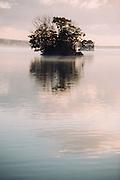 one of many island on the lake