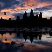 Angkor Wat, Siem Reap, Cambodia at sunset.