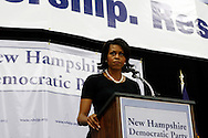 Michelle Obama, wife of Democratic presidential hopeful Senator Barack Obama, speaks to supporters during a rally in Concord, New Hampshire June, 2, 2007. .
