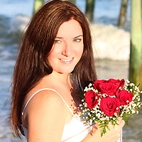 Beach Wedding at Garden City Beach Pier