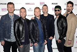 The Backstreet Boys - Nick Carter, Howie Dorough, Brian Littrell, (director Stephen Kijak),  AJ McLean and Kevin Richardson attend photocall prior to the release of their film -Show 'em What you're made Of on Wednesday 25 February 2015