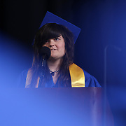 Alexis I. duPont High School graduate Christa Diehl give her Salutatorian address during duPont High School commencement exercise Saturday, June 06, 2015, at The Bob Carpenter Sports Convocation Center in Newark, Delaware.