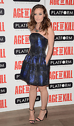April Pearson attends Age of Kill VIP Screening at the Ham Yard Hotel, Soho, London on Wednesday 1 April 2015