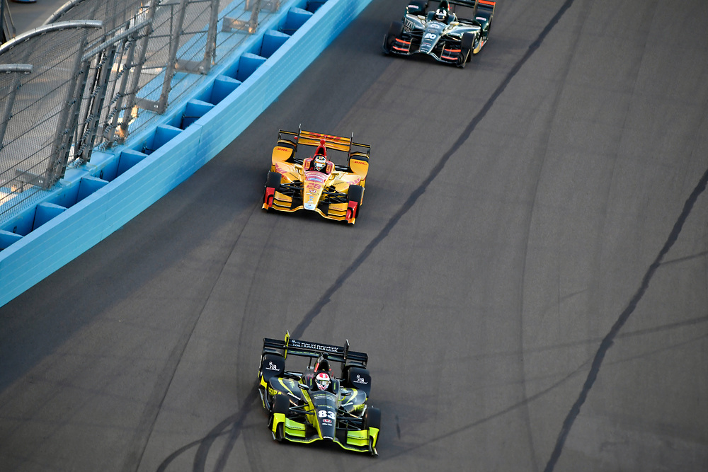 Verizon IndyCar Series<br /> Desert Diamond West Valley Phoenix Grand Prix<br /> Phoenix Raceway, Avondale, AZ USA<br /> Saturday 29 April 2017<br /> Charlie Kimball, Chip Ganassi Racing Teams Honda, Ryan Hunter-Reay, Andretti Autosport Honda<br /> World Copyright: Scott R LePage<br /> LAT Images<br /> ref: Digital Image lepage-170429-phx-3289