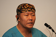 Dr. Peter Rhee speaks at a press conference at University Medical Center about the condition of the victims of the shooting spree during an attempt to assassinate Arizona congresswoman Gabrielle Giffords on January 8, 2011, in Tucson, Arizona, USA.  Six people died in the shooting and many others were wounded.