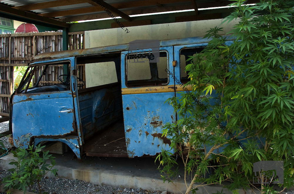 Bob Marleys tour bus in Trenchtown