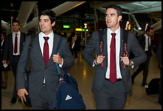 Jan 02-2013 England Cricket Team Leave for India