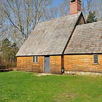 Historic Aptucxet trading post built by the Pilgrims for trading with the Wampanoag indians and the Dutch. It was the first private commercial enterprise in Norht America using local currency wampum.  This launched the American Free Enterprise System.