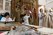 Rome, Vatican Museums, the tapestry workshop