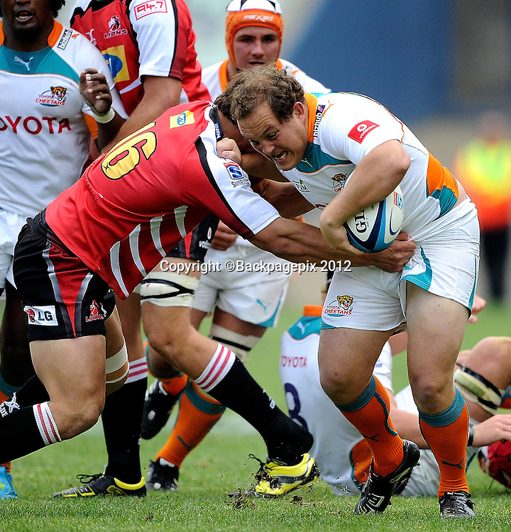 Callie Visagie for MTN Lions. Super Rugby - Free State Stadium aka Vodacom Park Stadium, Bloemfontein, South Africa. 7 April 2012.<br /> &copy;DeneseLups/BackpagePix