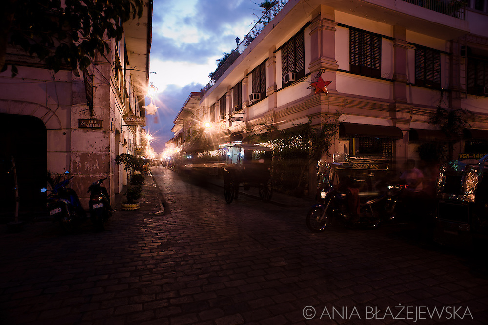 Vigan in the evening.<br />