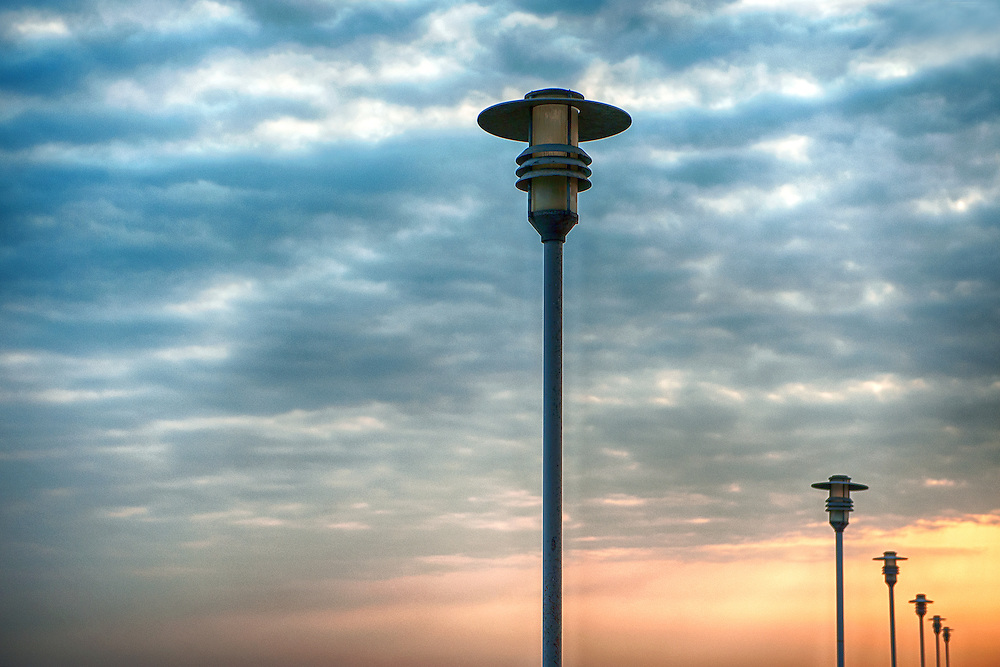 Lamp Post Singapore Sunset And Lamp Post
