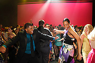 Students and patrons turn the main stage into a dance club after the final performance of Hairspray during the 13th Annual ArtsGala at Wright State University's Creative Arts Center, Saturday, March 31, 2012.