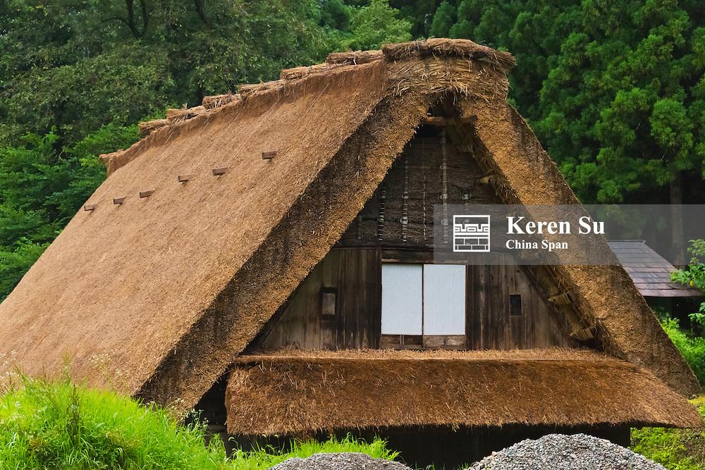 Gassho-zukuri house in the mountain, Shirakawa-go, Gifu Prefecture, Japan