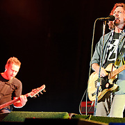 Bristow, VA. - May 13, 2010:  Eddie Vedder and grunge survivors Pearl Jam play to a rapturous audience during the first show of the season at the newly renamed Jiffy Lube Live. The band is currently touring behind their ninth album, Backspacer. (Photo by Kyle Gustafson/For The Washington Post)