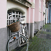 Bike on Street in Brugges, Belgium